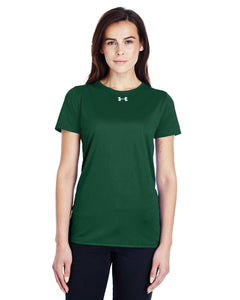 Under Armour Ladies Locker T-Shirt 2.0 Fr Green/ M Silver 1305510