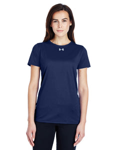 Under Armour Ladies Locker T-Shirt 2.0 Midnight Navy/ M Silver 1305510