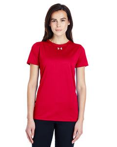 Under Armour Ladies Locker T-Shirt 2.0 Red/ M Silver 1305510
