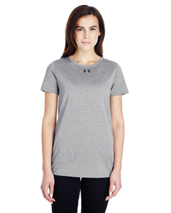 Under Armour Ladies Locker T-Shirt 2.0 T Gr Ht/ Black 1305510