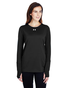 Under Armour Ladies Long Sleeve Locker T-Shirt 2.0 Black/ M Silver 1305681