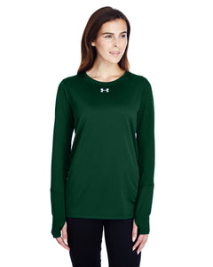 Under Armour Ladies Long Sleeve Locker T-Shirt 2.0 Fr Green/ M Silver 1305681