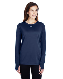Under Armour Ladies Long Sleeve Locker T-Shirt 2.0 Midnight Navy/ M Silver 1305681