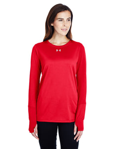 Under Armour Ladies Long Sleeve Locker T-Shirt 2.0 Red/ M Silver 1305681