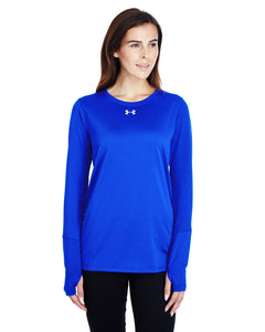 Under Armour Ladies Long Sleeve Locker T-Shirt 2.0 Royal/ M Silver 1305681