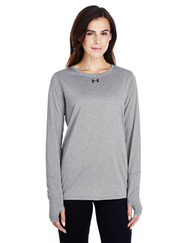 Under Armour Ladies Long Sleeve Locker T-Shirt 2.0 T Gr Ht/ Black 1305681