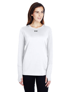 Under Armour Ladies Long Sleeve Locker T-Shirt 2.0 White/ Graphite 1305681