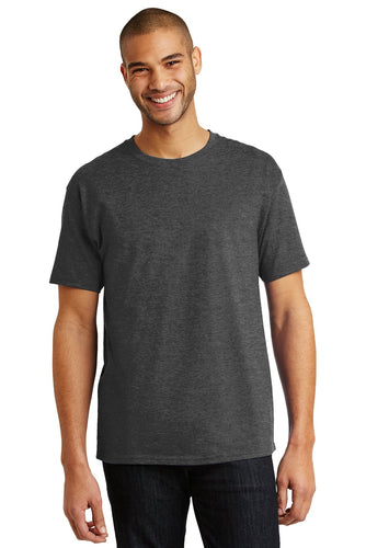 hanes tagless cotton t shirt 5250 charcoal heather