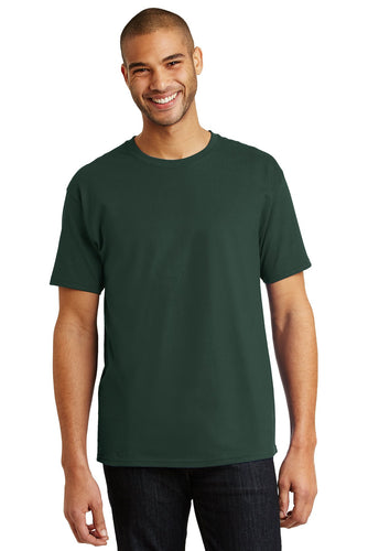 hanes tagless cotton t shirt 5250 deep forest