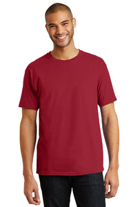 hanes tagless cotton t shirt 5250 deep red