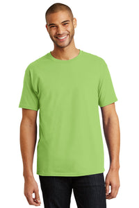 hanes tagless cotton t shirt 5250 lime