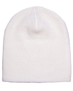Yupoong Adult Knit Beanie 1500 WHITE