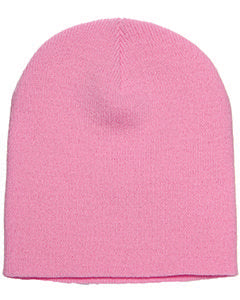 Yupoong Adult Knit Beanie 1500 BABY PINK