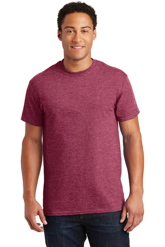 gildan ultra cotton t shirt 2000 heathered cardinal