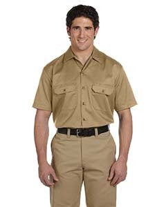 dickies_1574_khaki_company_logo_button downs