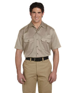 dickies_1574_desert sand_company_logo_button downs