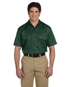 dickies_1574_hunter green_company_logo_button downs