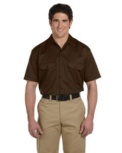 dickies_1574_dark brown_company_logo_button downs
