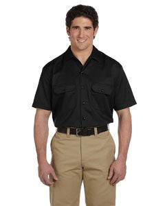 dickies_1574_black_company_logo_button downs