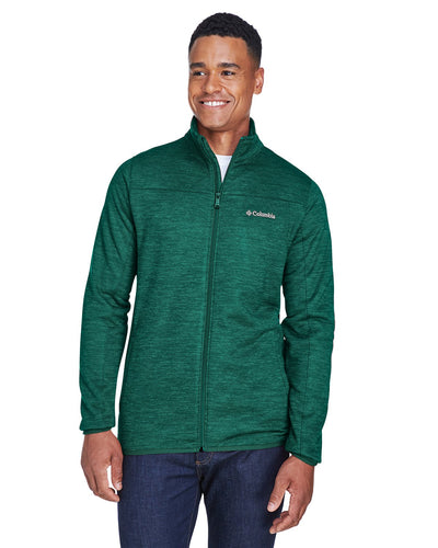 columbia birch woods ii full zip fleece jacket 1807681 dark ivy heather