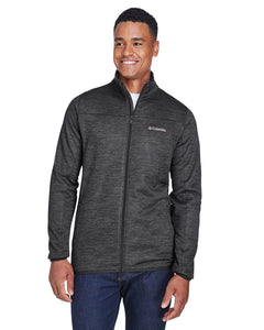 columbia birch woods ii full zip fleece jacket 1807681 black heather