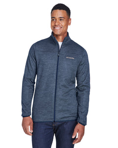 columbia birch woods ii full zip fleece jacket 1807681 collegt nvy hthr