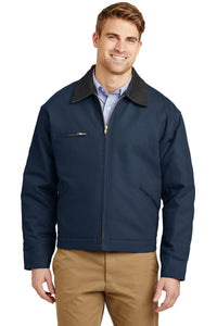 CornerStone Navy/Black J763 business jackets with logo