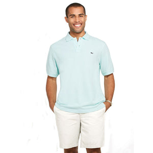 Vineyard Vines Men's Classic Pique Polo 1K0503 Blue Mist