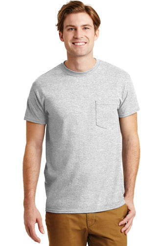 gildan dryblend cotton poly pocket t shirt 8300 ash grey