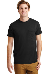 gildan dryblend cotton poly pocket t shirt 8300 black