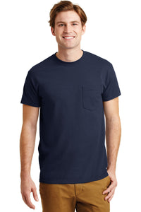 gildan dryblend cotton poly pocket t shirt 8300 navy