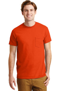gildan dryblend cotton poly pocket t shirt 8300 orange