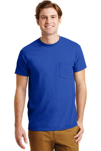 gildan dryblend cotton poly pocket t shirt 8300 royal