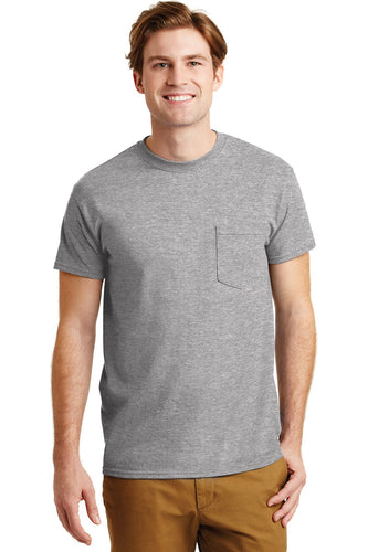 gildan dryblend cotton poly pocket t shirt 8300 sport grey