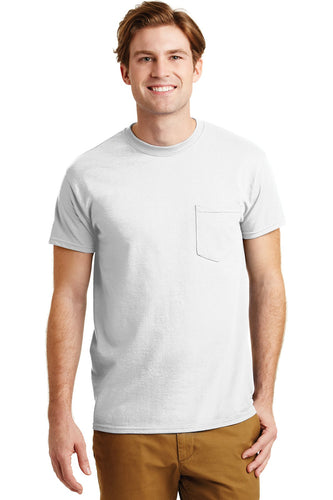 gildan dryblend cotton poly pocket t shirt 8300 white
