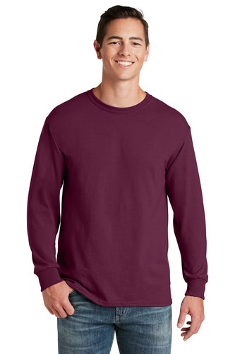 jerzees dri-power 50/50 cotton/poly long sleeve t-shirt 29ls maroon