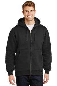 CornerStone Black CS620 business jackets with logo