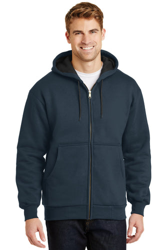 CornerStone Navy CS620 business jackets with logo