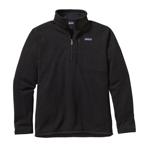 Patagonia Men's Better Sweater Quarter-Zip Fleece 25523 Black