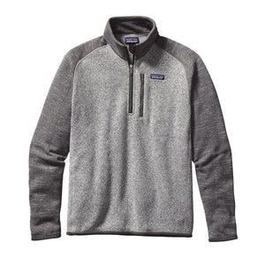 Patagonia Men's Better Sweater Quarter-Zip Fleece 25523 Nickel with Forge Grey
