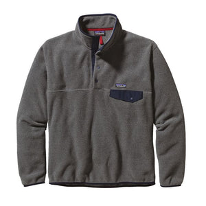 Patagonia Men's Synchilla Snap-T Fleece Pullover 25580 Nickel with Navy Blue