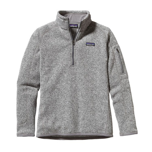 Patagonia Women's Better Sweater Quarter-Zip Fleece 25618 Birch White