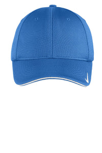 nike dri-fit mesh swoosh flex sandwich cap 333115 pacific blue