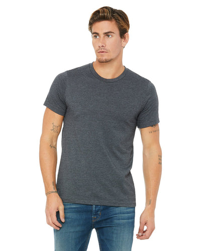 bella + canvas unisex jersey short sleeve t-shirt 3001c drk grey heather