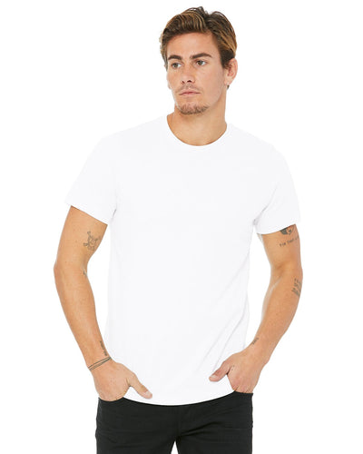 bella + canvas unisex made in the usa jersey short sleeve t-shirt 3001u white