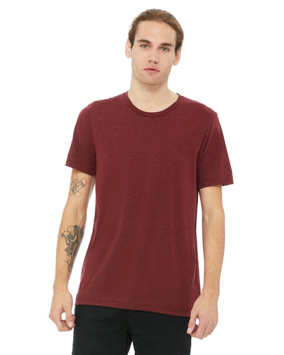bella + canvas unisex triblend short sleeve t-shirt 3413c cardinal trblnd