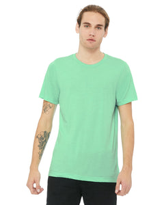 bella + canvas unisex triblend short sleeve t-shirt 3413c mint triblend