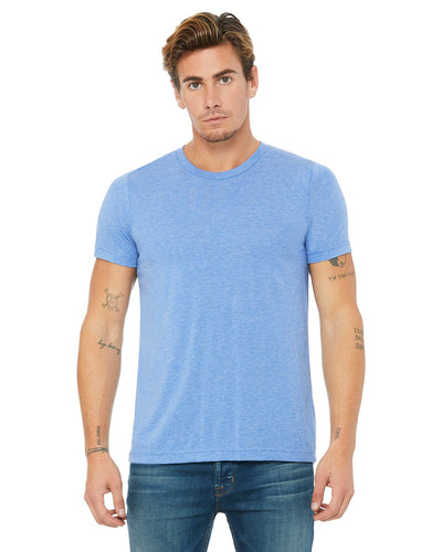 bella + canvas unisex triblend short sleeve t-shirt 3413c blue trblnd