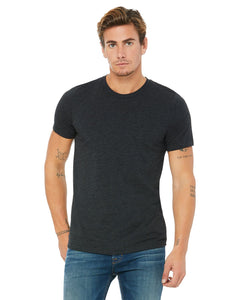 bella + canvas unisex triblend short sleeve t-shirt 3413c char-black trib