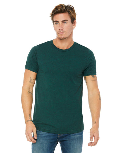 bella + canvas unisex triblend short sleeve t-shirt 3413c emerald triblend